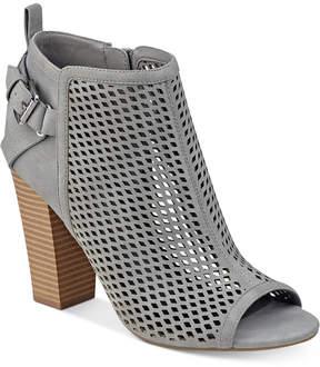 G by Guess Jerzy Peep-Toe Block-Heel Booties Women's Shoes