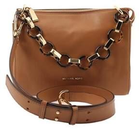 Michael Kors MICHAEL Women's Gianna Medium Messenger Bag, Acorn, One Size - BROWN - STYLE