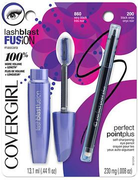 CoverGirl LashBlast Fusion Mascara + Perfect Point Plus Eye Pencil Very Black / Black Onyx