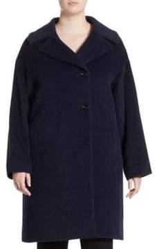 Cinzia Rocca Cinzia Rocca, Plus Size Plus Two Button Side Coat