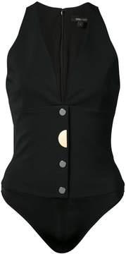 Cushnie et Ochs deep V-neck vest