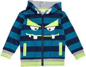 Petit Lem Striped Hooded Sweatshirt, Size 2-6X