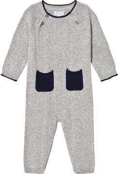 Mini A Ture Noa Noa Miniature Grey and Navy Long Sleeved Jumpsuit with Pockets