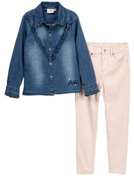 AG Jeans Denim Shirt & Pants 2-Piece Set (Toddler Girls)