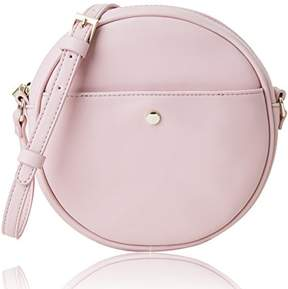 Co The Lovely Tote Women's Round Cross-Body Circle Purse (Dusky Pink)