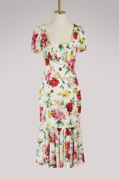 Dolce & Gabbana Flowers silk dress
