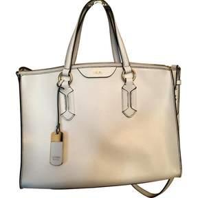 Ralph Lauren White Leather Handbag