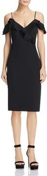 Bardot Ruffled Cold-Shoulder Dress