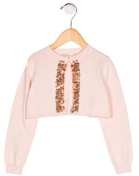 Billieblush Girls' Embellished Cardigan w/ Tags