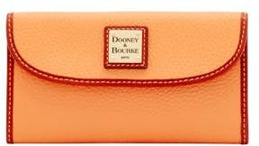 Dooney & Bourke Pebble Grain Continental Clutch Wallet - APRICOT - STYLE