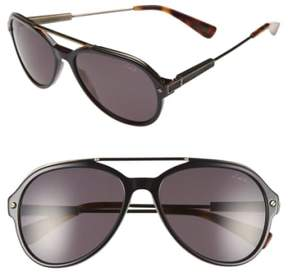 Lanvin Men's 57Mm Aviator Sunglasses - Black Havana
