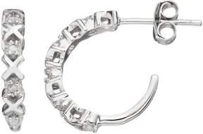 Xo Diamond Classics Sterling Silver 1/10 Carat T.W. Diamond Hoop Earrings