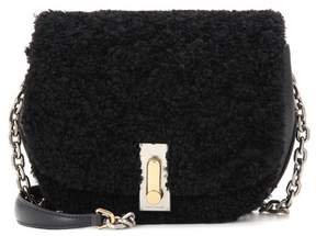 Marc Jacobs Shearling and leather shoulder bag