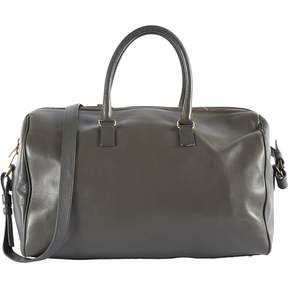 Saint Laurent Duffle leather bowling bag - ANTHRACITE - STYLE