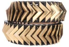 Balmain Leather Embellished Belt