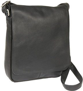 Le Donne Leather Flap-Over Shoulder Bag