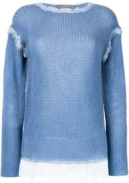 Ermanno Scervino cashmere lace detail jumper