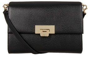 Lodis Stephanie Under Lock & Key - Small Eden Leather Crossbody Bag - Black