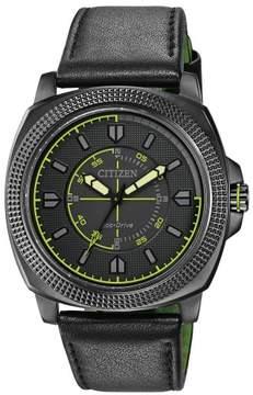 Citizen CTO BJ6475-18E Black/Green Analog Eco-Drive Men's Watch