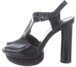 Sonia Rykiel Patent Leather Platform Sandals