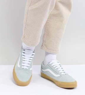 Vans Old Skool Pastel Mint Sneakers With Gum Sole