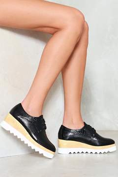 Nasty Gal nastygal Croc Around the Clock Platform Oxford