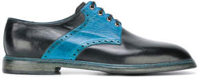Dolce & Gabbana punch holes derby shoes