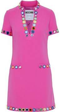 Moschino Embellished Cady Mini Dress