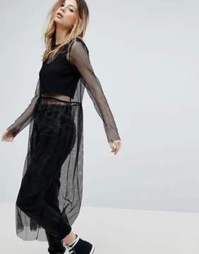 Noisy May Sheer Split Detail Maxi Dress