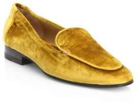 The Row Adam Velvet Loafers