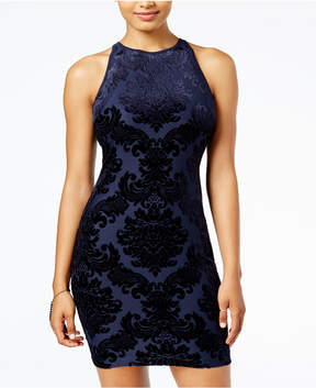B. Darlin Juniors' Flocked Bodycon Dress, a Macy's Exclusive Style