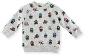Stella McCartney Billy Allover Helmet-Print Sweatshirt, Size 12-36 Months