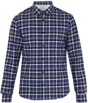 Acne Studios Isherwood point-collar checked cotton shirt