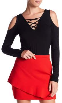 Fifteen-Twenty Fifteen Twenty Strappy Front Cold Shoulder Tee