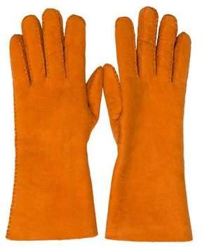 Hermes Wool-Lined Suede Gloves