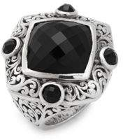 Lois Hill Black Onyx & Sterling Silver Ring