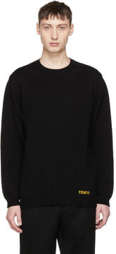 Fendi Black Bag Bugs Sleeves Sweater