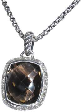 David Yurman Noblesse 925 Sterling Silver with Quartz and Diamond Necklace