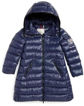 Moncler Girl's Moka Long Hooded Waterproof Down Jacket