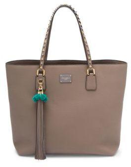Dolce & Gabbana Pom-Pom Tassel Leather Tote - CIPIRIA - STYLE