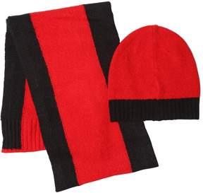 Diesel Two Tone Wool Blend Knit Scarf & Hat Set