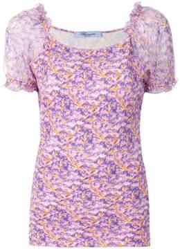 Blumarine floral short-sleeve blouse