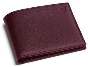 Aspinal of London | Billfold Wallet In Burgundy Saffiano Black Suede | Burgundy saffiano black suede
