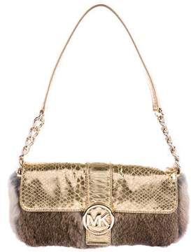 MICHAEL Michael Kors Fur Fulton Bag - BROWN - STYLE