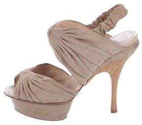 Nina Ricci Suede Platform Sandals