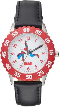 Spiderman Kohl's Marvel Boy's Leather Time Teacher Watch