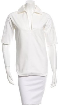 Bouchra Jarrar White Short Sleeve Top w/ Tags