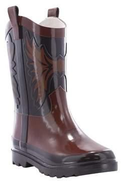 Western Chief Toddler Boy Western Cowboy Rain Boot Brown