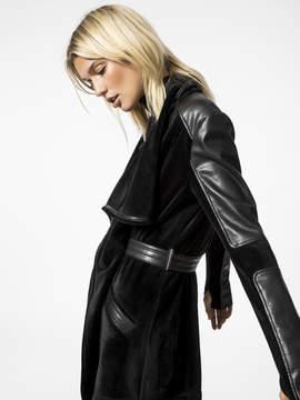 Blanc Noir Drape Velour Jacket