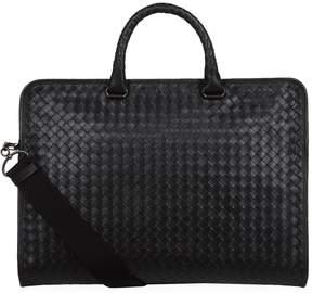 Bottega Veneta Leather Intrecciato Top Handle Bag